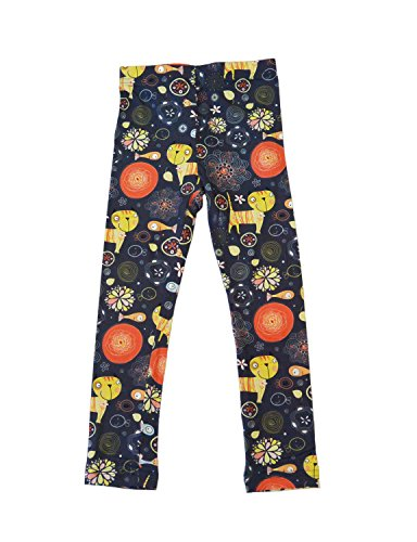 Girls Baby Kids Childrens Toddler Floral Print Leggings Pants (6T, Cat) -