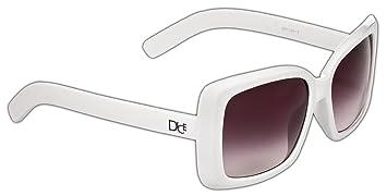 Dice lunettes de soleil pour femme - Blanc - Blanc Hlj71FdD