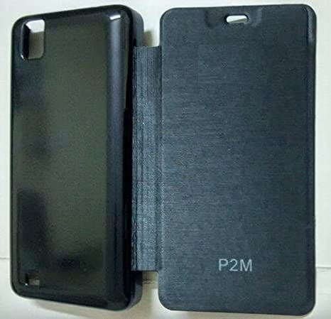 best service fc8fe b5884 Black Premium Quality Battery Back Case Flip Cover for: Amazon.in ...