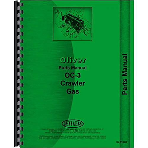 New Oliver OC-3 Crawler Parts Manual