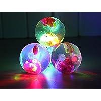 ARTBOX PVC 2 Bouncing LED Flashing Inside Balls (Multicolour, Medium)