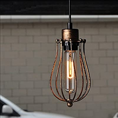 WinSoon 1PC Modern Style Metal Lamp Wall Lamp Vintage Loft Pendant Light Retro Cage Design