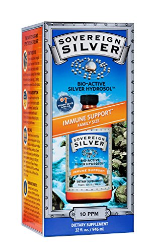 Sovereign Silver Bio-Active Silver Hydrosol for Immune Support - 10 ppm 32oz (946mL) - Family Size