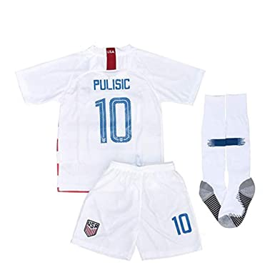 ec5bff1c3 City surfers 10 USA Soccer Pulisic 2018/2019 Kids/Youths Home Jersey &  Shorts