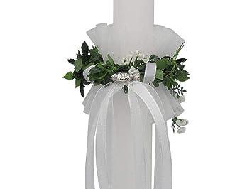 Set Tropfschutz Kerzenrock Kerzentuch Taufkerze Kommunion Hochzeit Kerze Neu