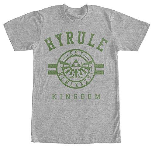 Nintendo Men's Legend of Zelda Hyrule Kingdom Athletic Heather T-Shirt