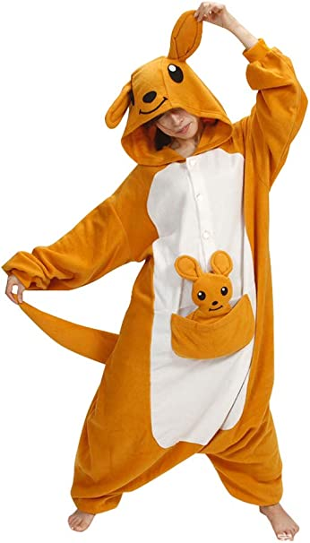 ZBSPORT Canguro Pijamas para Adultos Animal Cosplay Disfraz de ...
