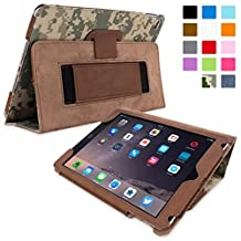 Snugg iPad Air Case - Smart Cover with Flip Stand & Lifetime Guarantee (Digital Camo Leather)