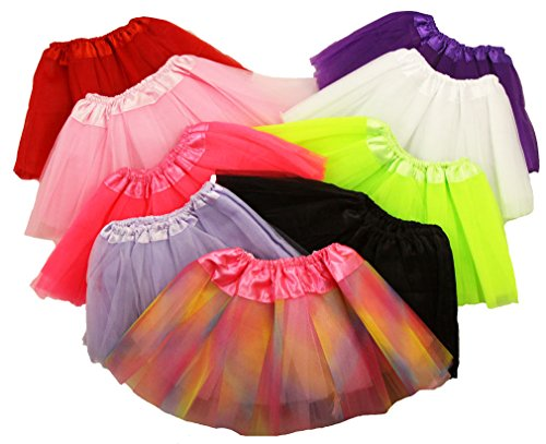 Tutu Assortment - Baby Ballet Tutu Assortment - 9 Total Tutus Included - 7