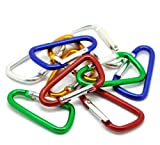 50 Mixed Colors Carabiners 1-7/8 Inch for Key Rings (Light Weight Not for Climbing)