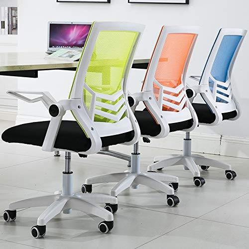Jingxiang kant nät baksida och svart säte med uppfällbart armar ergonomiskt skrivbord och datorstol kontorsstolar (färg: Violet) marinblå