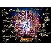 Avengers Infinity War Print (11.7  x 8.3 ) RDJ, Stan Lee, Chris Pratt, Tom Hiddleston, Chris Hemsworth, Chris Evans, Black Panther, Spiderman, Captain America, Iron Man