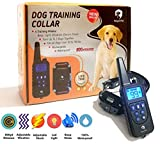Remote Dog Training Collar - 800 yd Range, Dog Shock Collar Rechargeable And 100% Waterproof With Beep, Vibration, Light And Shock - Electric Dog Collar For Puppy, Small, Medium And Large Dogs