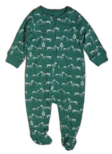 baby-gap-baby-boys-girls-unisex-one-piece-dog-print-full-zip-footed-jumper-3-6-months-23-27-in-green