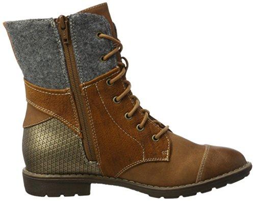 s.Oliver Mädchen 55201 Combat Boots Braun (Cognac)