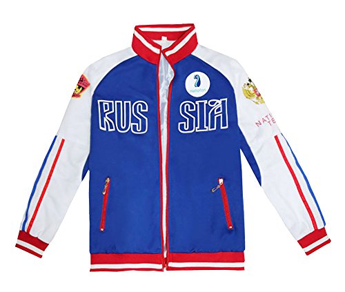 TOKYO-T Yuri on Ice Yuri Plisetsky Costume Jacket Cosplay Halloween (US:S,Asian:M)