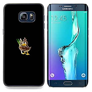 """Qstar Arte & diseño plástico duro Fundas Cover Cubre Hard Case Cover para Samsung Galaxy S6 Edge Plus / S6 Edge+ G928 (Empuje mosnter Pato"""")"""