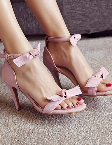 LFNLYX Zapatos de mujer-Tacón Stiletto-Tacones-Sandalias-Boda / Vestido / Casual / Fiesta y Noche-Vellón-Negro / Rosa / Rojo Pink