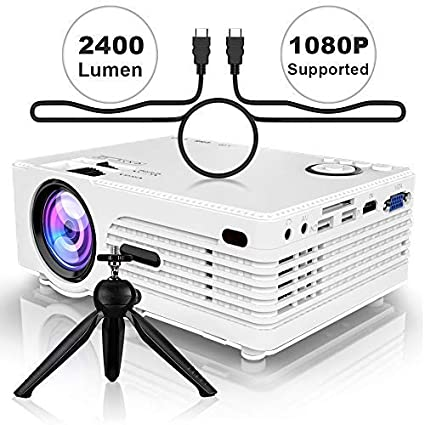 Projector (2019 Newest), 2400Lumen Mini Projector with 176