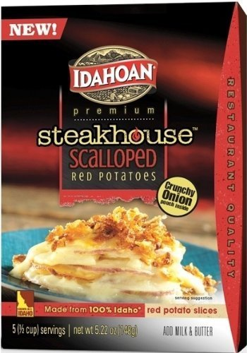 Red Potato (Idahoan, Premium Steakhouse Red Potatoes, Scalloped, 5.22oz Box (Pack of 4))