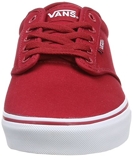 Vans BUCK Sneaker Wh Red Rojo basse Rouge Uomo M LEATHER B ATWOOD qrwxrXET