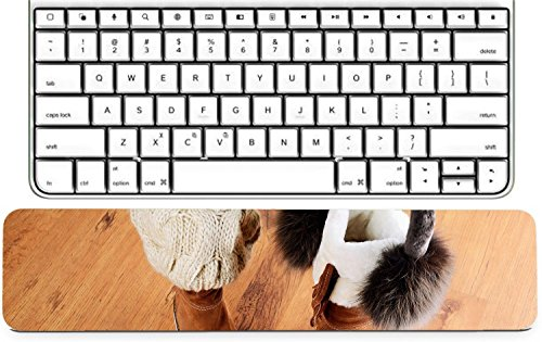 Luxlady Keyboard Wrist Rest Pad Long Extended Arm Supported Mousepad IMAGE ID: 34389622 winter boots hat and fur headphones on the floor horizontal format