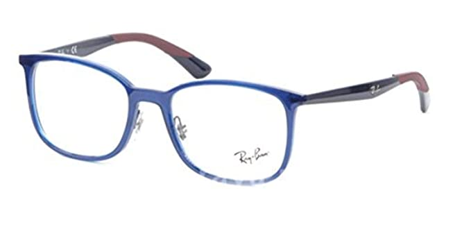 64e7c9d954b Image Unavailable. Image not available for. Colour  Ray Ban RX7142 Blue  Clear Lens Eyeglasses