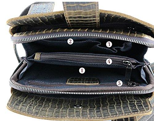 DJB/Krokodil Muster Leder Man Tasche HerrenCasual Fashion Crazy ...