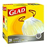 Glad Clear Bags - Large 77 Litres - Drawstring, 28 Trash Bags