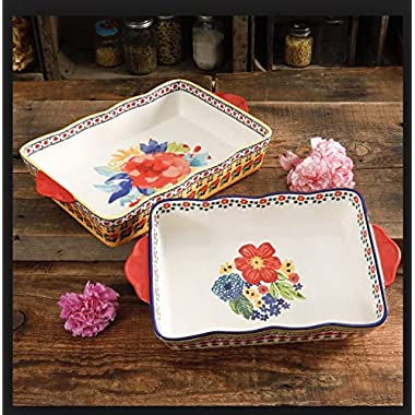 The Pioneer Woman Fiona Floral Rectangular Baking Set, 2 pieces