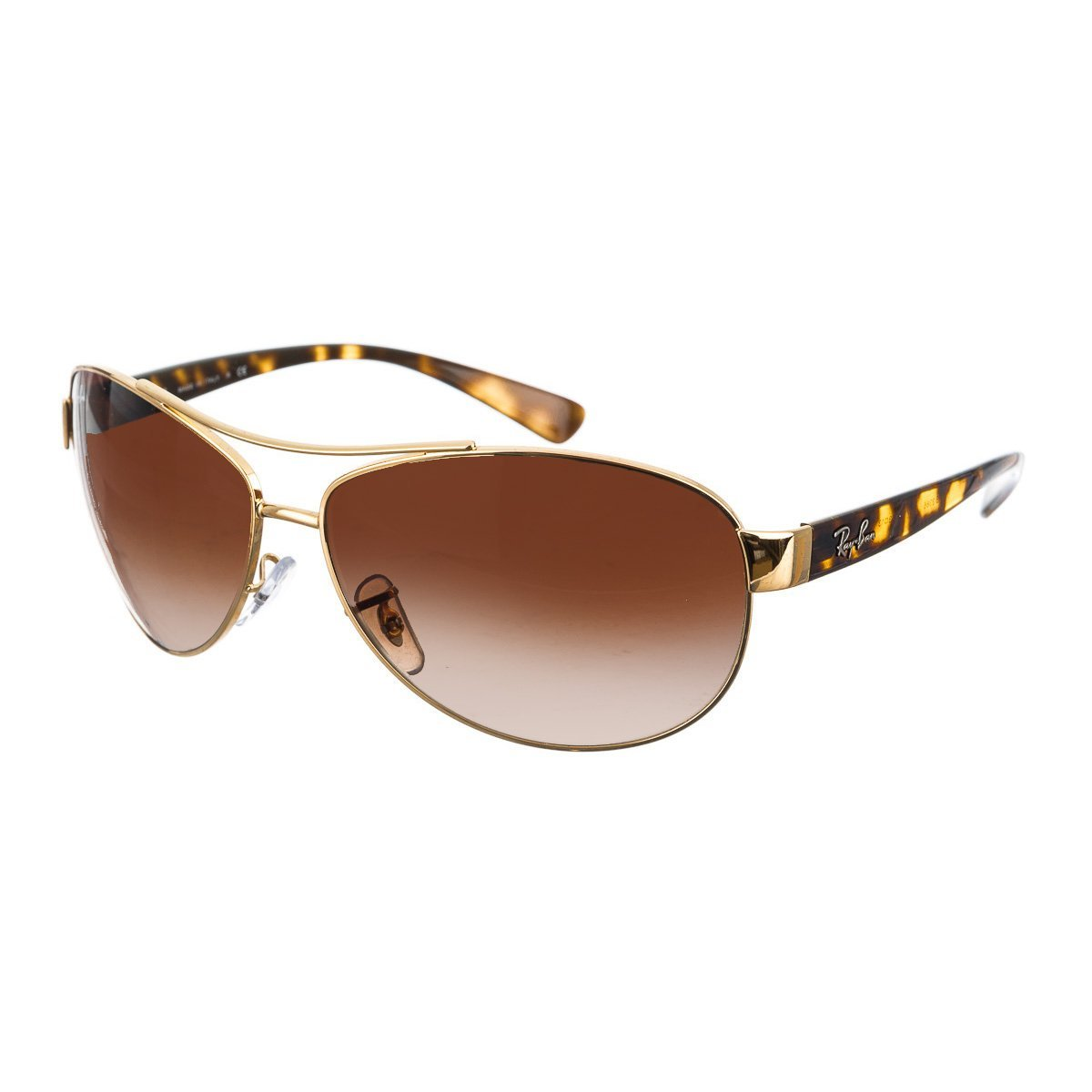 bab7e56d9a Amazon.com  Ray-Ban Sunglasses - RB3386   Frame  Gold Lens  Brown Gradient  (63mm)  Clothing