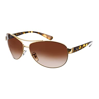 f313c785bd80 Amazon.com  Ray-Ban Sunglasses - RB3386   Frame  Gold Lens  Brown ...