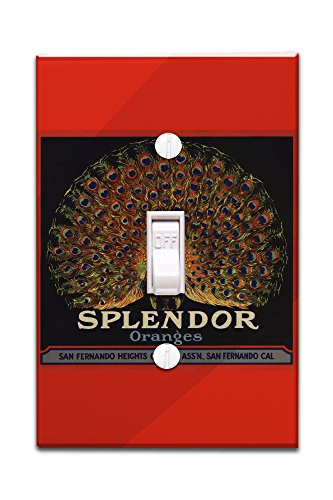 Splendor Brand - San Fernando, California - Citrus Crate Label (Light Switchplate Cover)