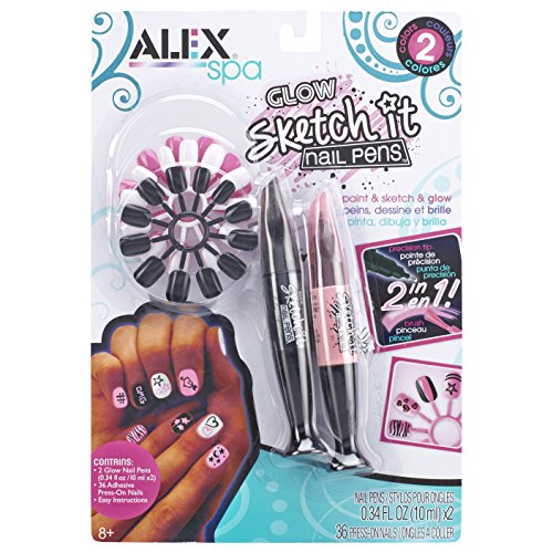 ALEX Spa Glow Sketch It Nail Pens 2 Pack
