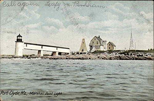Marshall Point (Marshall Point Light Port Clyde, Maine Original Vintage Postcard)