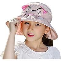 Bienvenu Kids Girls Wide Brim Visor Sun Hat - UV Protection Foldable Beach Cap