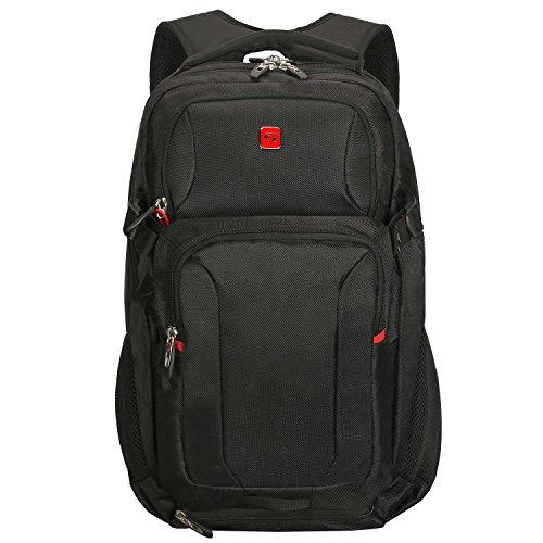 Winkee BB4346MBK Laptop Rucksack, Notebook Rucksack Männer 15,6 Zoll
