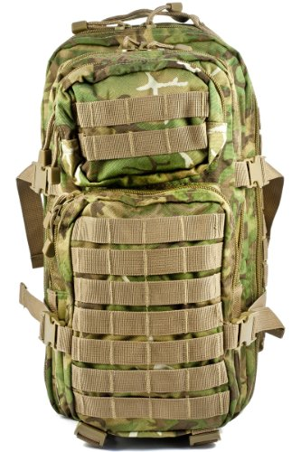 Mil-Tec US Assault Pack Backpack, One Size, Woodland Arid