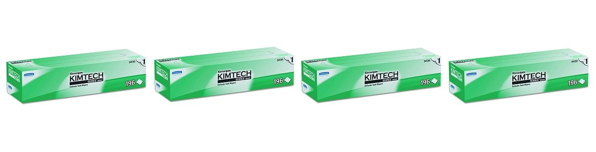 Kimwipes Delicate Task Kimtech Science Wipers (34133), White, 1-PLY, 15 Pop-Up Boxes / Case, 196 Sheets / Box, 2,940 Sheets / Case (4-(15 Pop-Up Boxes/Case))