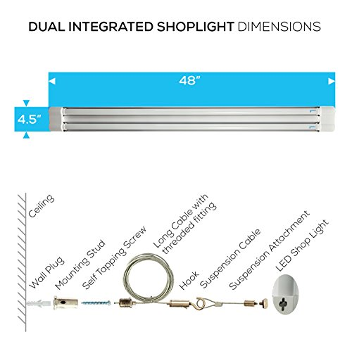 Tremendous Hyperikon Led Utility Shop Light 4 Foot Linkable Double Fixture Wiring Digital Resources Arguphilshebarightsorg