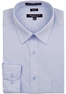 7bc4198f1344 Platino de Marquis Marquis Men's Slim Fit Dress Shirt at Amazon ...
