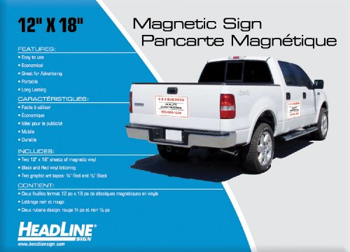Headline Sign 9512 Customizable Magnetic Sign Kit with Magnetic Material, Vinyl Lettering, and Graphic Art Tape (Magnetic Business Signs)
