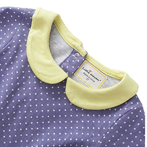 Kids Baby Girls'Pure Cotton Polka Dots Full Sleeve Dress Autumn 2-7 years by Little Maven (Image #1)