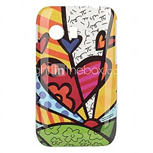 Lovely Heart-Shaped Pattern Hard Case for Samsung GALAXY Y S5360