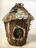 Birch Birdhouse Christmas ornament 8'' high, 4 '' wide