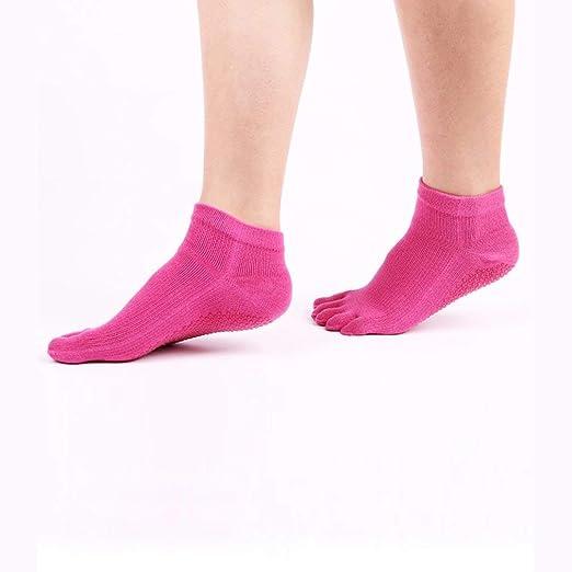 Women Anti-skid Sports Yoga Toe Socks Fitness Five Fingers ...