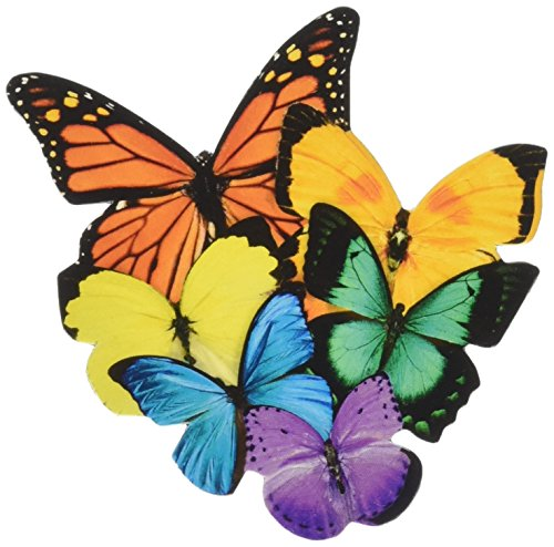 Paper House Productions Die Cuts - Paper House Productions M-0494E Die Cut Refrigerator Magnet, Butterflies (6-Pack)