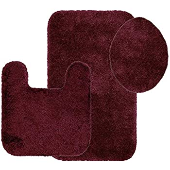 Amazon Com 3 Piece Bath Rug Set Pattern Bathroom Rug 20