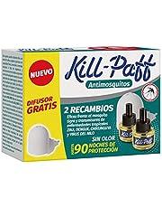 Kill Paff – elektrisch insecticide, tegen muggen, tijger, zender voor tropische ziekten, diffusor, 90 nachten (inhoud: 1 diffuser + 2 navullingen)