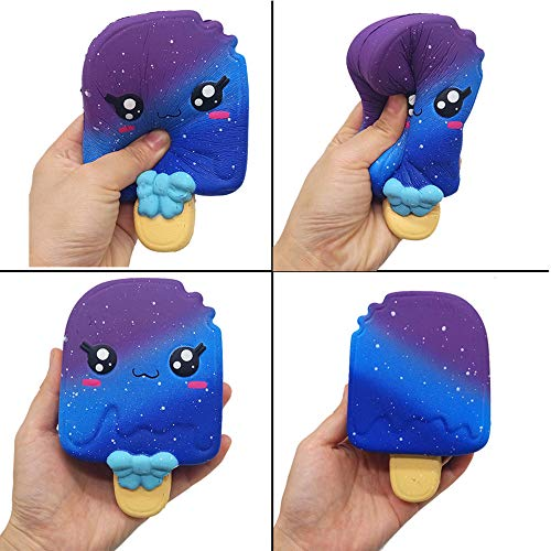 Squishies Slow Rising Jumbo Ice Cream Cake & Kawaii Creamy Scent for Kids Party Toys Stress Reliever Toy (A) -